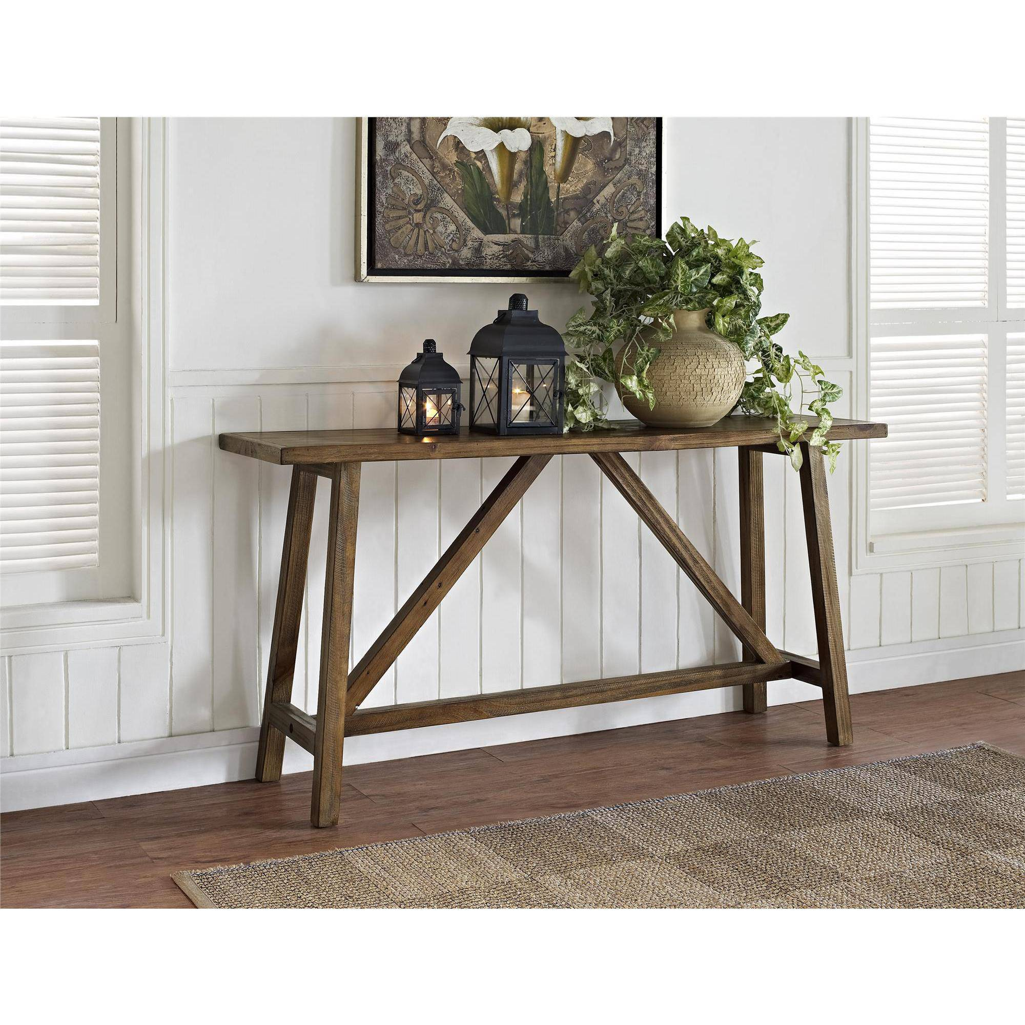 Altra Bennington Console Table, Rustic by Ameriwood
