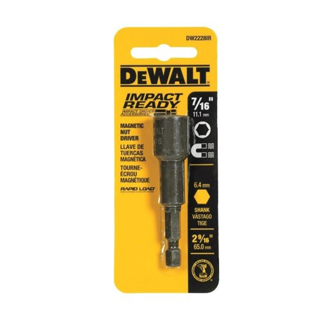 DEWALT ACCESSORIES Impact Ready 7/16 x 2-9/16-In. Magnetic Nut Driver (Ready Accessory)