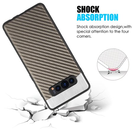 Samsung Galaxy S10 Case, by Insten Carbon Metallic Fusion TPU Rubber Candy Skin Case Cover For Samsung Galaxy S10, Gray - image 3 de 6