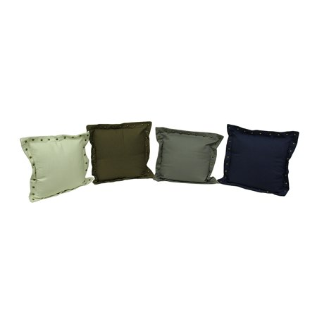 Throw Pillow Trim : Set of 4 Stud Trim Decorative Throw Pillows - Walmart.com