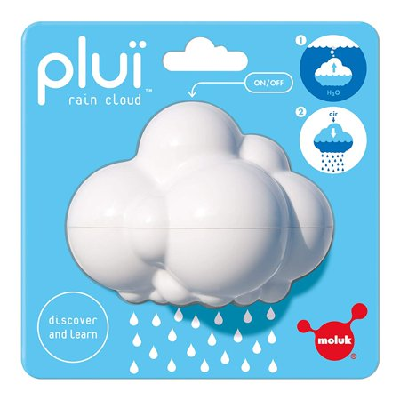 Plui Rain Cloud Tub Toy, A charming and smart bath toy with a touch of magic; fill it with water, let it rain and then stop the flow with a
