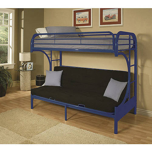 eclipse twin over futon metal bunk bed multiple colors   walmart    rh   walmart