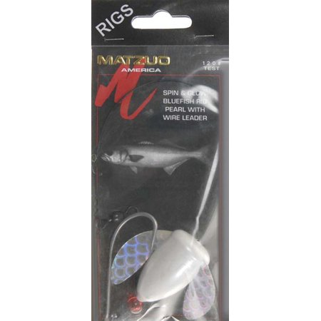 Matzuo mr2044 fishing rig spin glow blufsh pearl wire le for Fish wire walmart