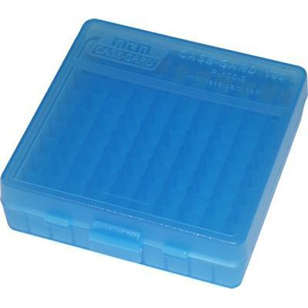 Mtm Ammo Box 100 Round Flip-top 40 10mm 45 Acp Clear Blue - image 1 of 1
