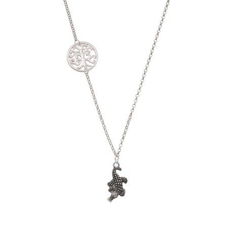 Alligator Delicate Tree of Life Necklace