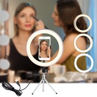 """10.23"""" Ring Light with Stand and Phone Holder Selfie Ring Light with Tripod 3 Modes 10 Brightness Level LED Lights for iPhone Android Camera Makeup Smart Phone YouTube"""