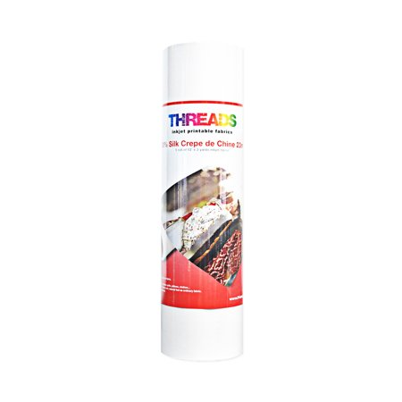 Classic Inkjet - Threads Inkjet Printable Fabrics 23mm Silk Crepe de Chine 13in x 3yds