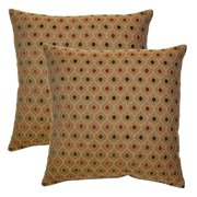 FHT Glimpse Cayenne 17-in Throw Pillows (Set of 2)