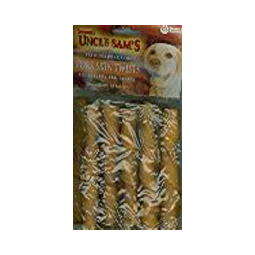 Sergeant's Pork Skin Twists 10-Count Dog Treat