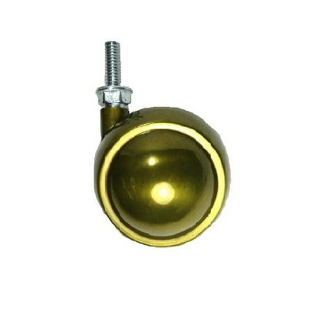 - Swivel Brass Planet Ball Caster 2-1/2