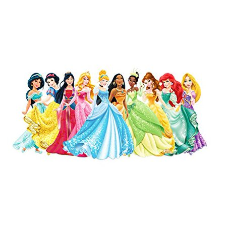 Disney Princess Ariel Aurora Bella Cinderella Jasmine Mulan Pocashontas Tiana Edible Cake Topper Frosting 1/4 Sheet Birthday Party