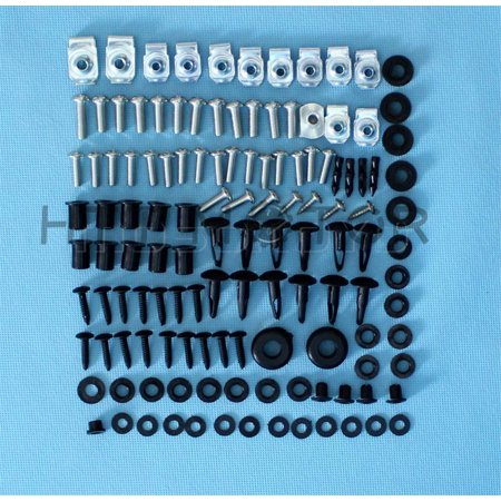 HTTMT- 109Pcs Fairing Bolt Kit Body Work Screws For Suzuki GSX-R 600 750 06 2007 CD -