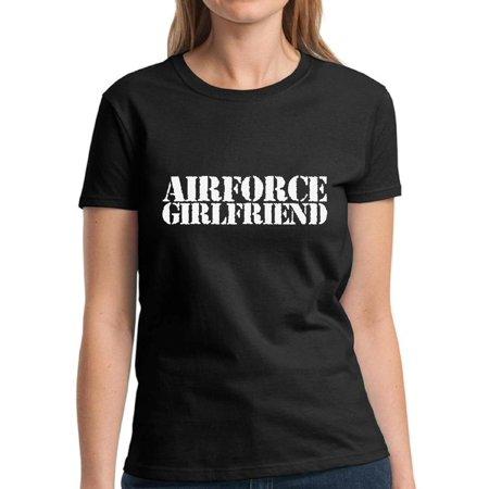 Mezee Airforce Girlfriend Tshirt Valentine's Day Outfit Airforce Valentine Shirts for Girlfriend Valentine T Shirt Valentine's Day Party Valentine Gifts for Girlfriend Proud Airforce Girlfriend Shirt