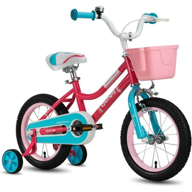 "CYCMOTO Girls Bike For 3-6 Years Child 14/"" Kids Bicyle With Basket Hand Brake"
