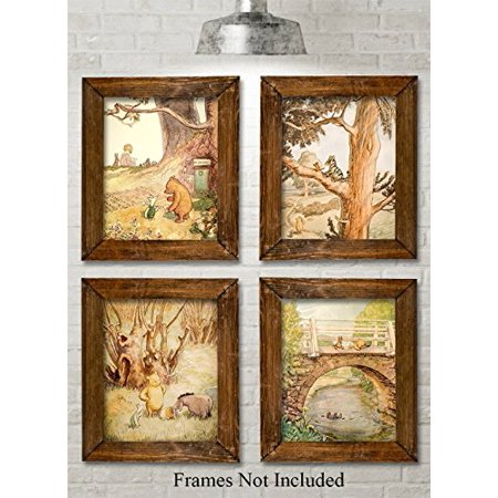 Winnie the Pooh Bear - Set of Four Photos (8x10) Unframed