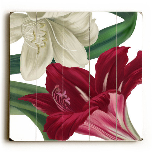Artehouse LLC White and Red Flowers Graphic Art