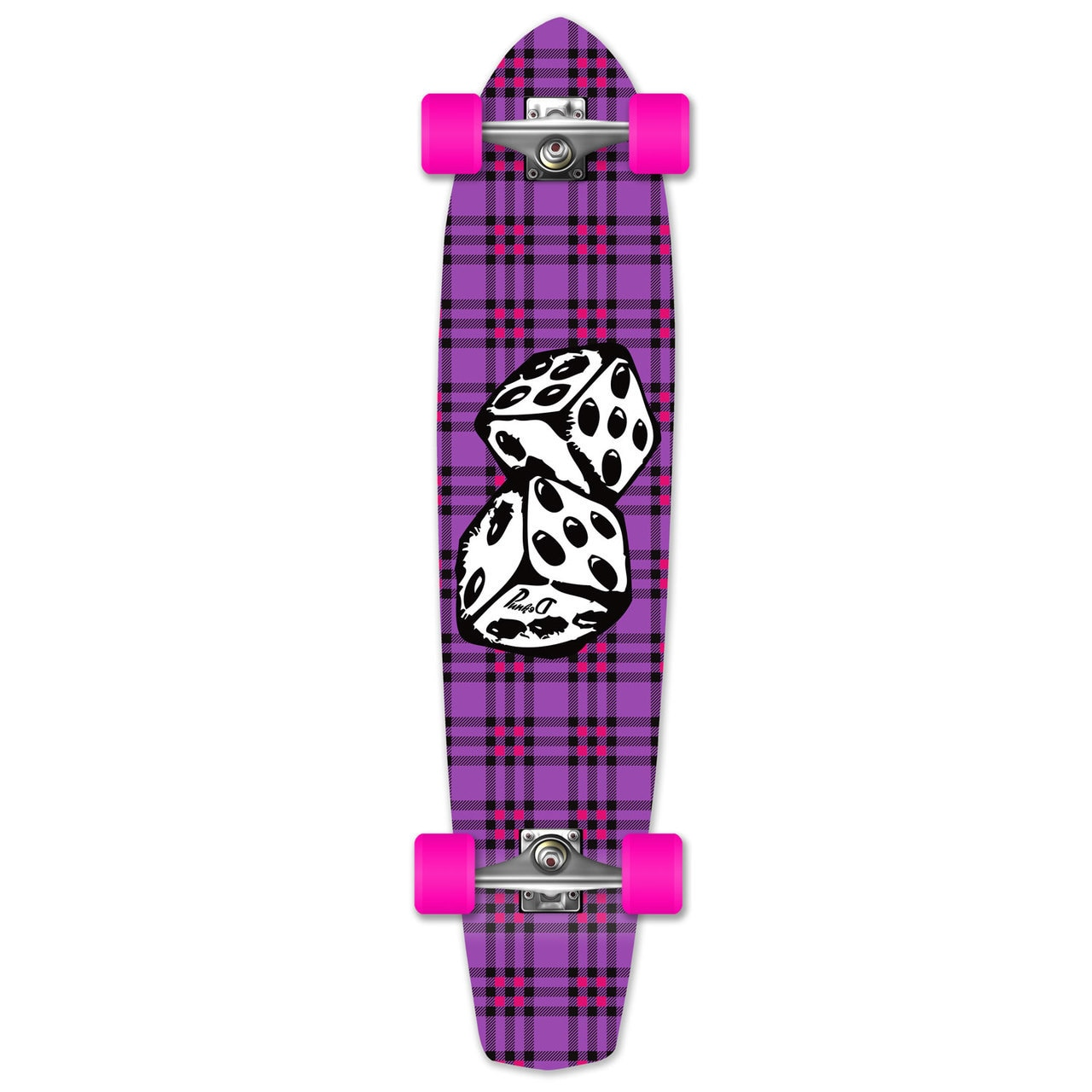 Yocaher Slimkick Longboard Complete Dice by