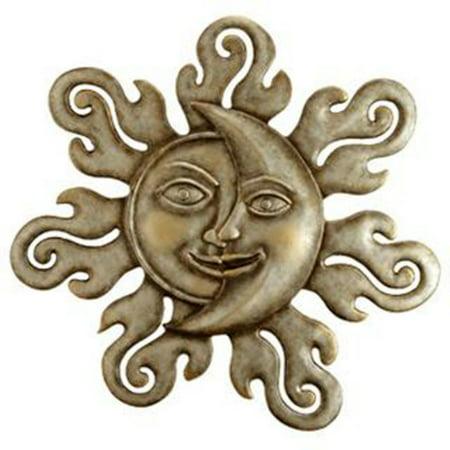 Sun and Moon Half Face Garden Wall Plaque