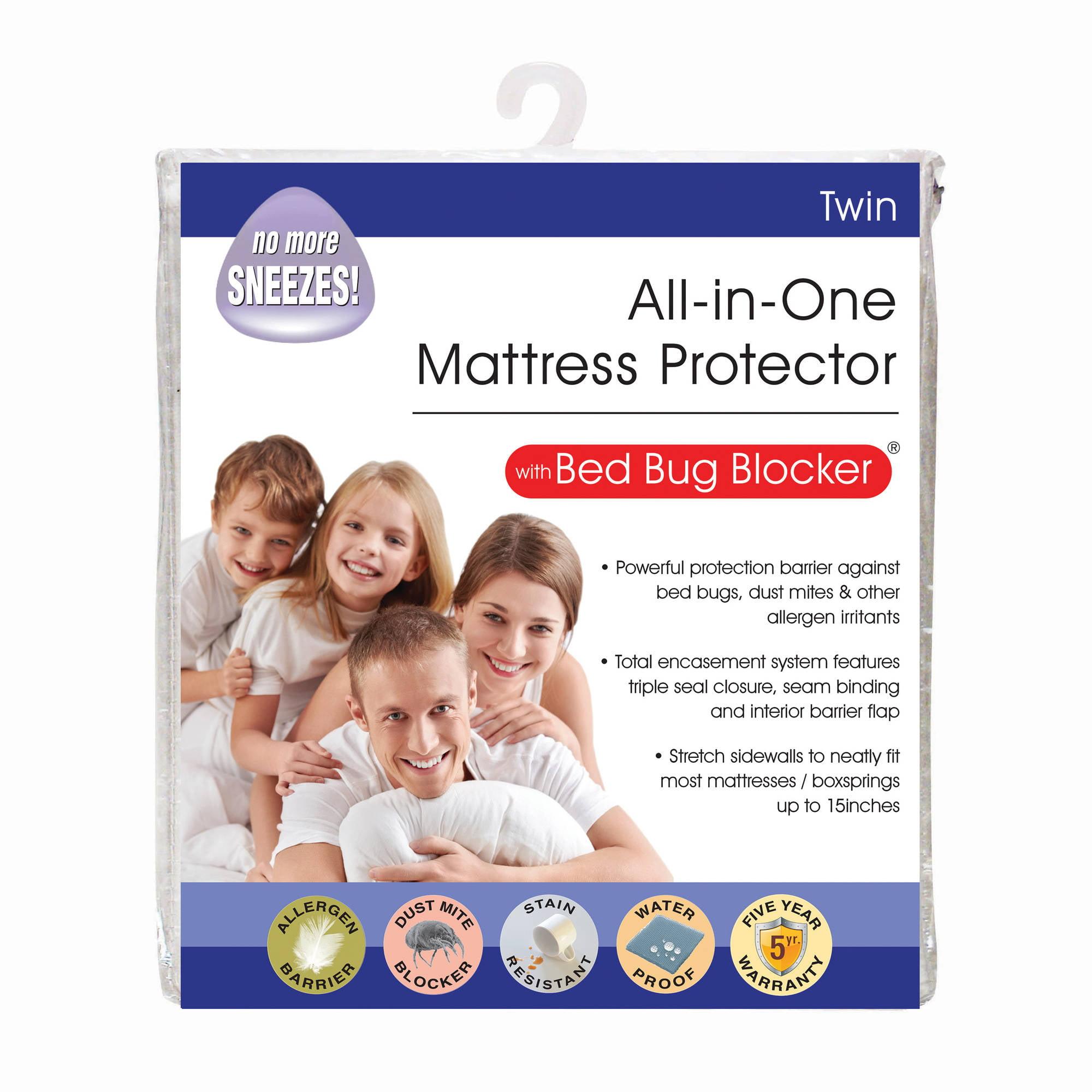 original bed bug blocker zippered mattress protector - walmart