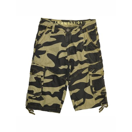 Camo Military Shorts - Stone Touch Men's Military Camouflage Cargo Shorts #27sC1-KH size:30