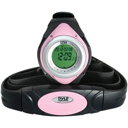 Pyle Pro(R) PHRM38PN Heart Rate Monitor Watch with Minimum, Average & Maximum Heart Rate