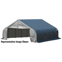 Shelterlogic 18' x 28' x 9' Peak Style Shelter, Gray