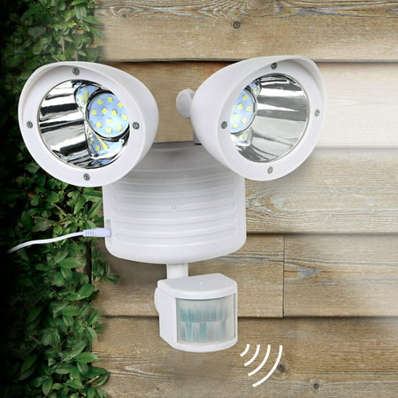 White Dual 22 LEDs Security Detector Solar Spot Light Motion Sensor Outdoor Floodlight