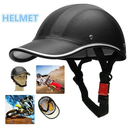 Motorcycle Bike Scooter Half Open Face Helmet Skull Baseball Cap Safety Hard Hat