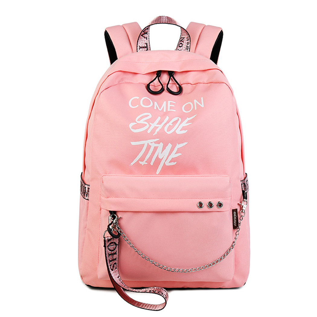 Luminous backpack, Coofit Creative Glow in the Dark Student School Travel Backpack Bookbag Knapsack for Girls Women Kids (Pink)