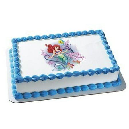 Disneys Ariel Little Mermaid Princess Of The Waves Edible Icing Image For 1 4 Sheet Cake