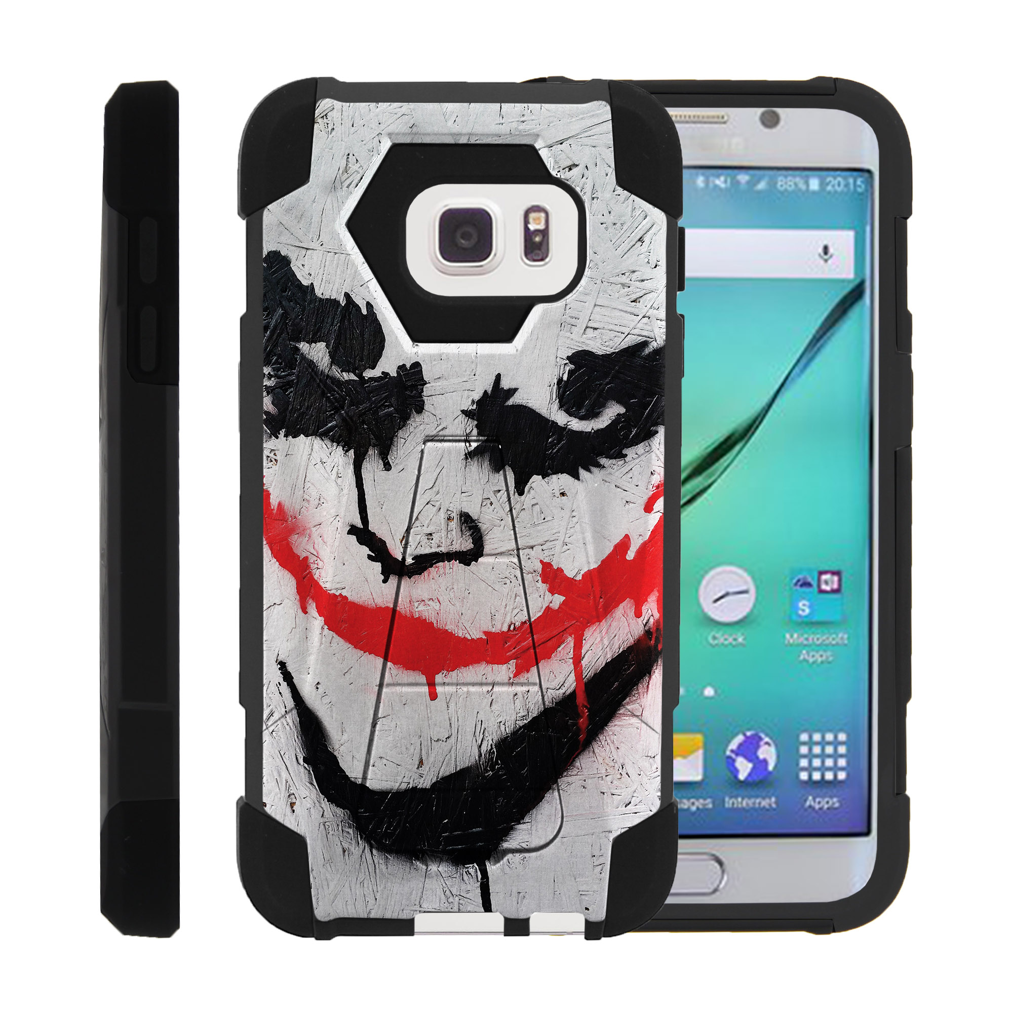 Case for Samsung S7 | S7 Hybrid Cover [ Shock Fusion ] High Impact Shock Resistant Shell Case + Kickstand - Joker
