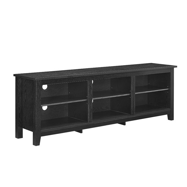 "70"" Walker Edison Wood TV Media Storage Stand for TVs up to 78"" - Black"