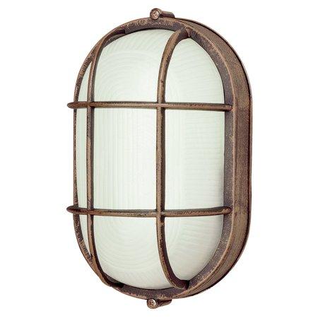 Trans Globe Energy Saving PL-41005 Outdoor Bulkhead Wall Light - 8.5H
