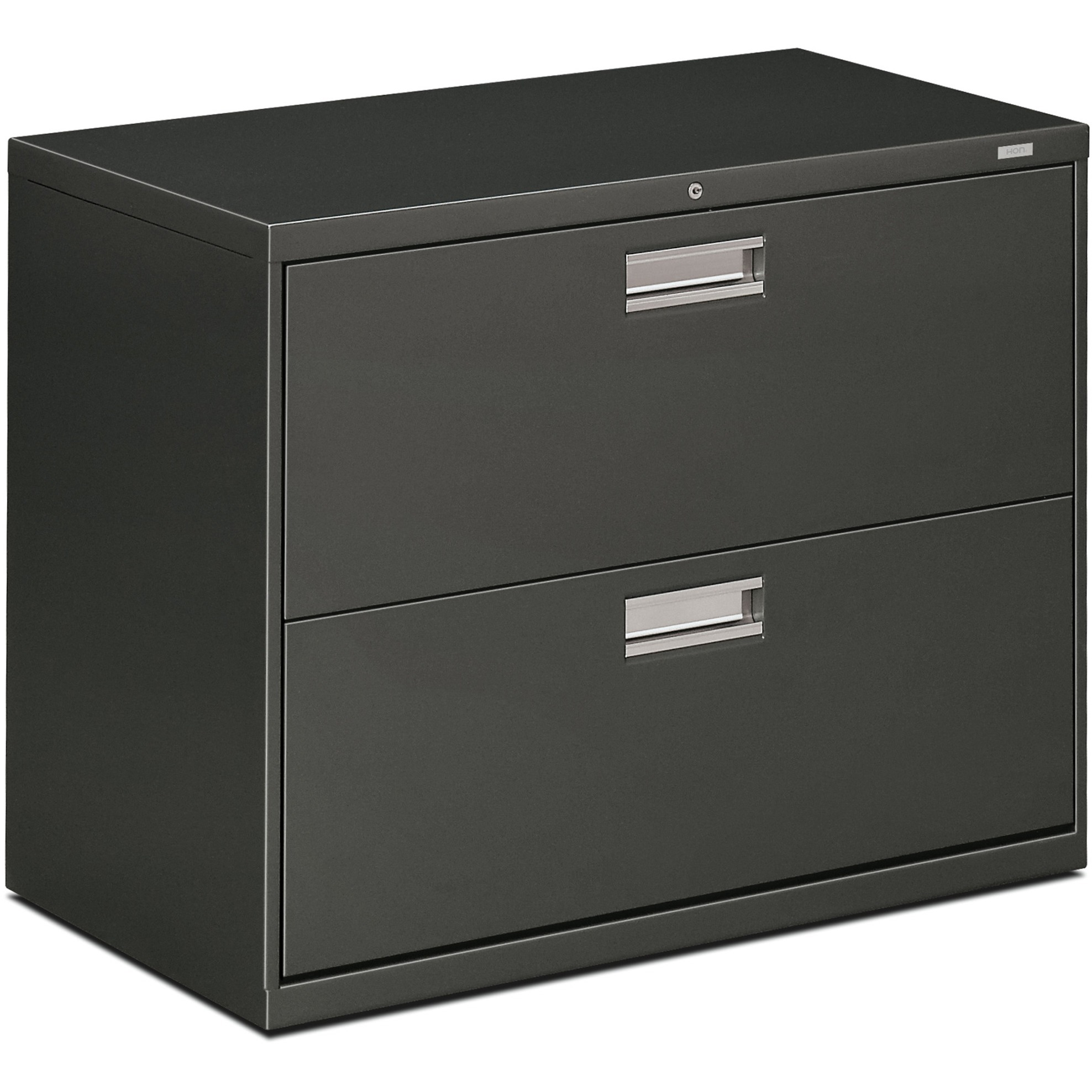 HON 2 Drawers Lateral Lockable Filing Cabinet, Charcoal