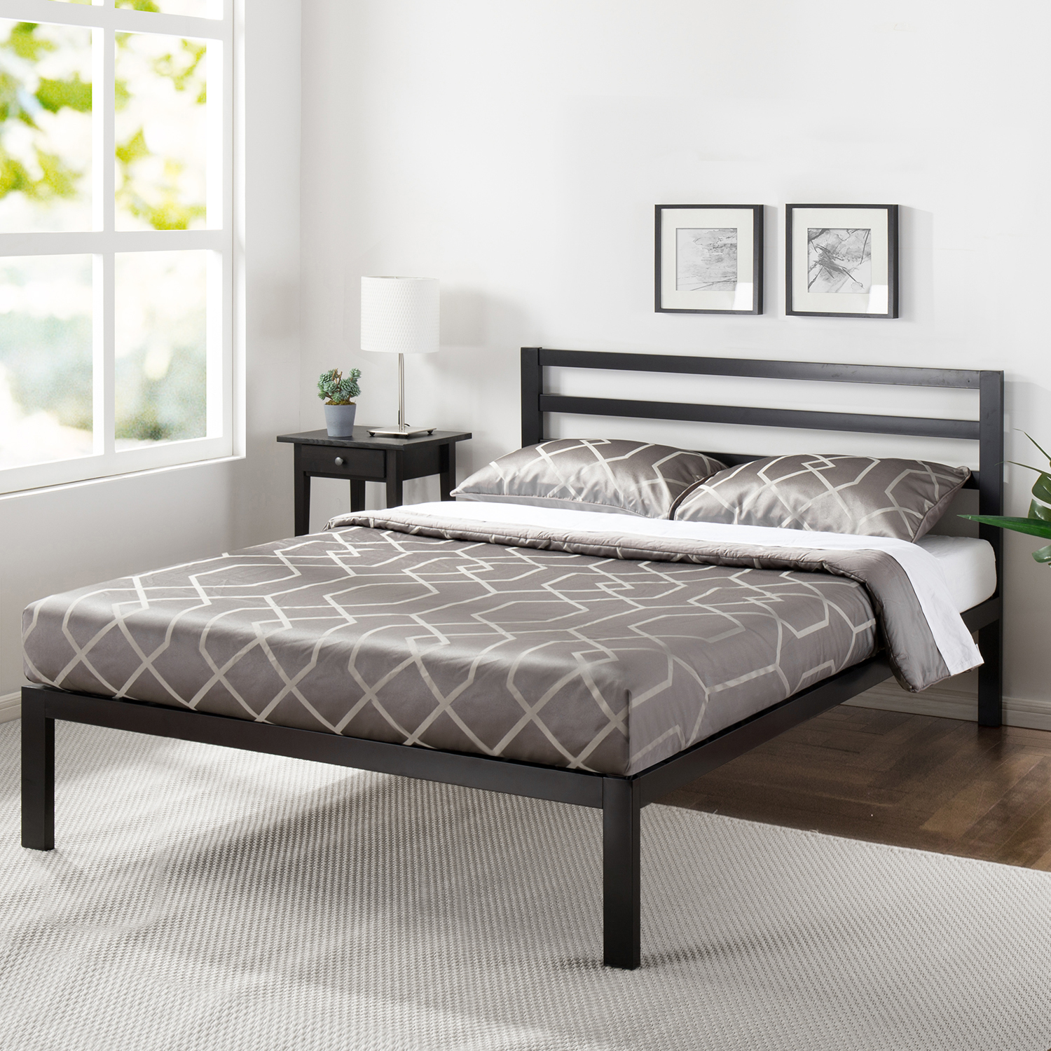 Mainstays Metal Platform Bed with Metal Headboard