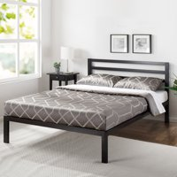 Mainstays Metal Platform Bed with Metal Headboard, Multiple Sizes