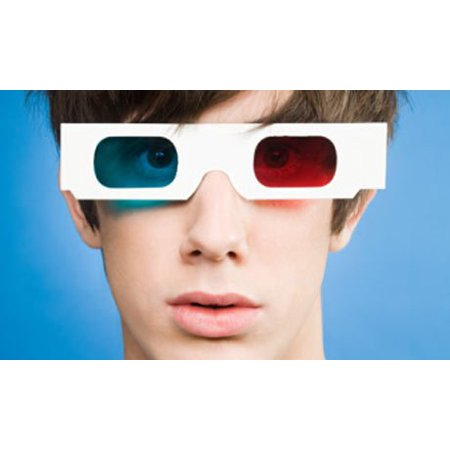 Red and Cyan Cardboard 3D Glasses for Internet & Movies, 6 Pairs of 3D glasses folded and sleeved in a protective sleeve By 3Dstereo - Diy 3d Glasses