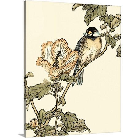 Great BIG Canvas | Vision Studio Premium Thick-Wrap Canvas entitled Oriental Bird on Branch I