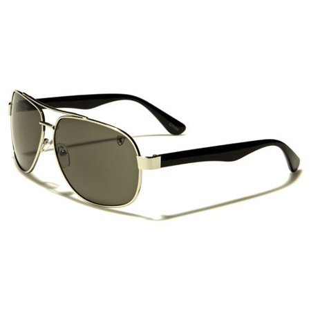 aec8cb057 Khan - Khan Brand Metal Frame Plastic Arms Men's Bulk Aviator Glass (Gold)  - Walmart.com