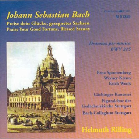 Bach   Spoorenberg   Bach Collegium   Rilling   Praise Your Good Fortune  Cd