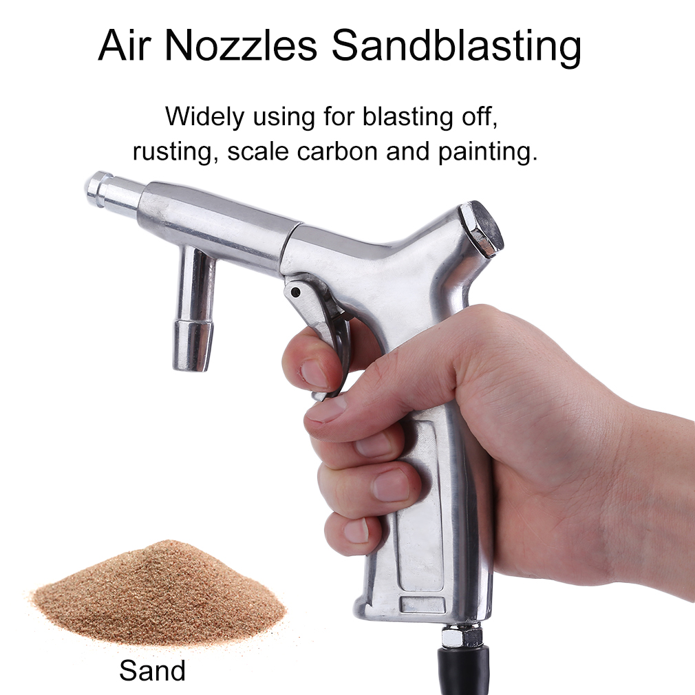 Efficient 8pcs Air Nozzles Sandblasting Gun Tubes Pick Up Sandblaster Set