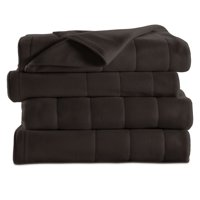 Sunbeam Quilted Fleece Electric Heated Warming Blanket G9