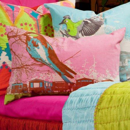 Koko Company Nesting Pink Decorative Pillow ()