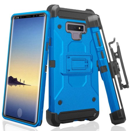 super popular f2630 dc14c Galaxy Note 9 Case, SOGA Belt Clip Holster Rugged Phone Cover ShockProof  Compatible for Samsung Galaxy Note 9 - Blue