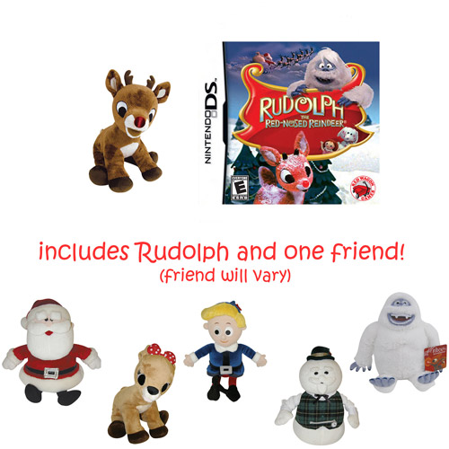 Rupolph the Red-Nosed Reindeer Bundle with 2 Plush Movie Animals (DS)
