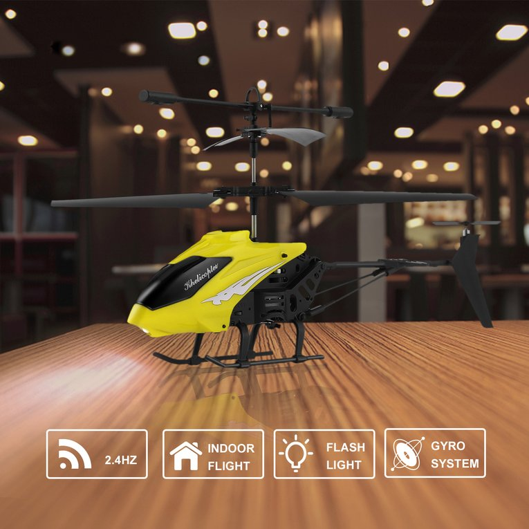 3.5 CH RC Helicopter Toy Remote Control Drone Radio Gyro Aircraft Kids Toys Yellow