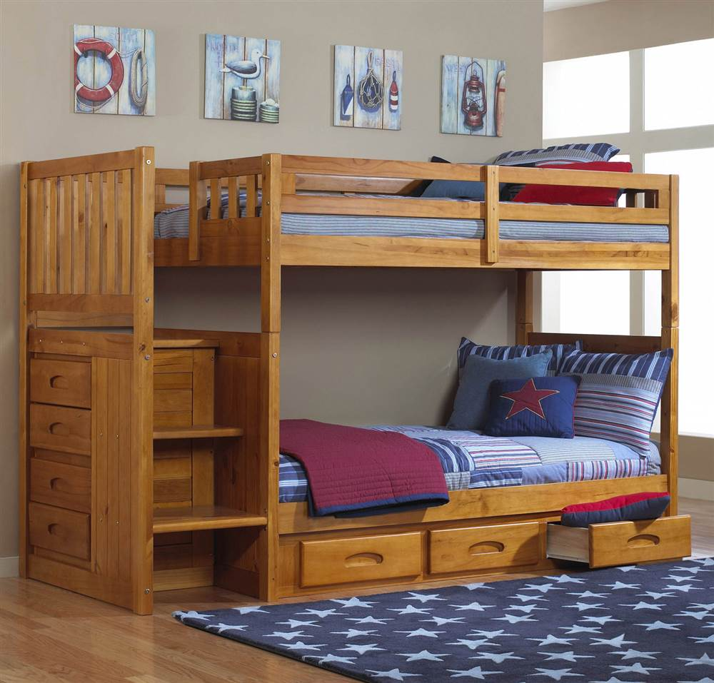 Acme Furniture Jason Espresso Twin Queen Bunk Bed