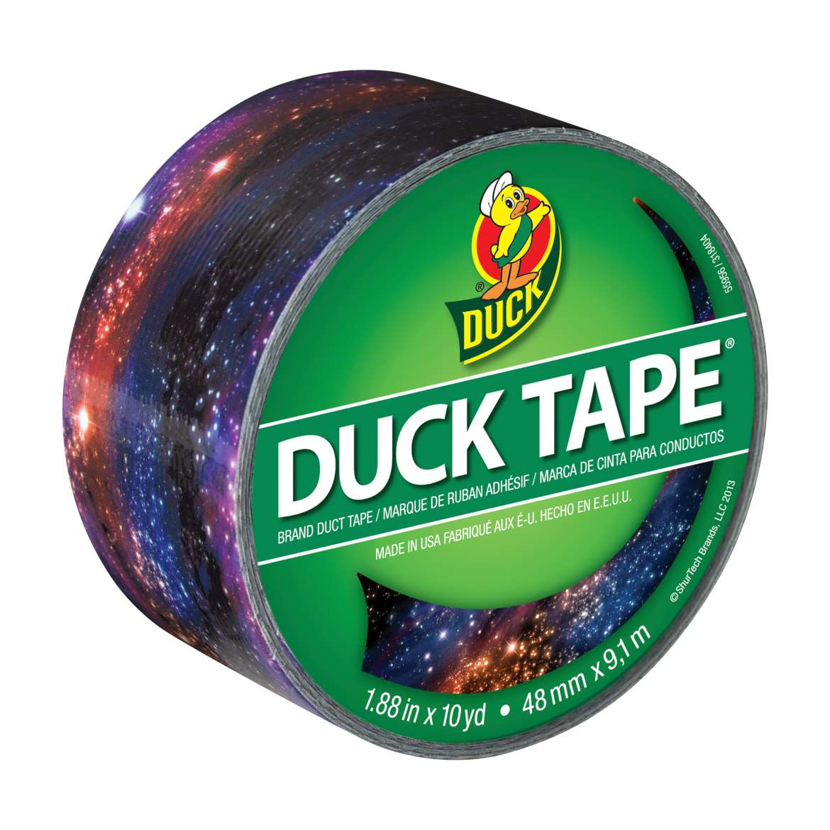 "Duck Brand Duct Tape, 1.88"" x 10 yds, Galaxy"