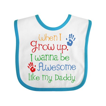 Awesome Like My Daddy Baby Bib White Turquoise One Size - Walmart.com c5de855e52