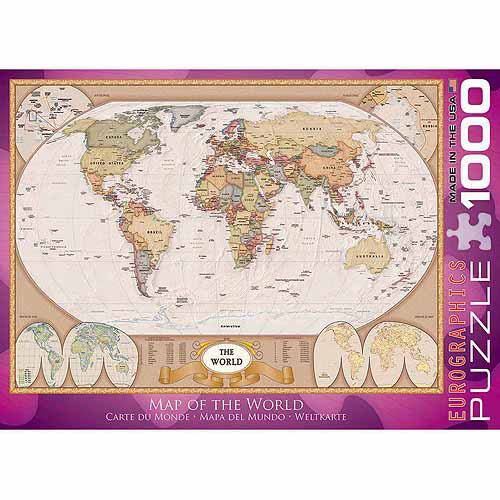 EuroGraphics Map of the World 1000-Piece Puzzle